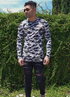 LONG SLEEVE DISTRESSED CAMO