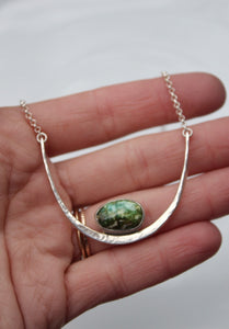 Hammered Bar Necklace #1