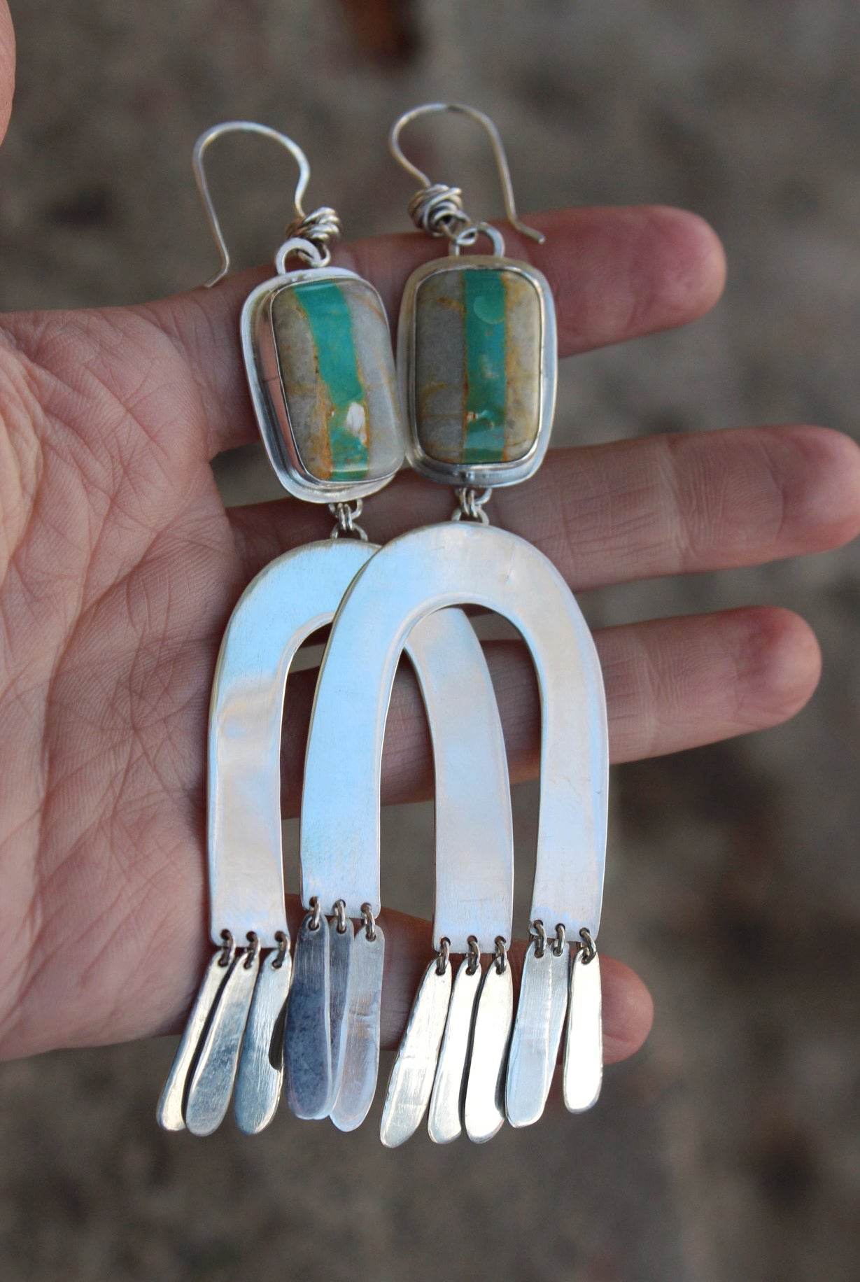 Horseshoe Fringe Earrings #1