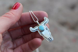 Bull Skull Necklace #10