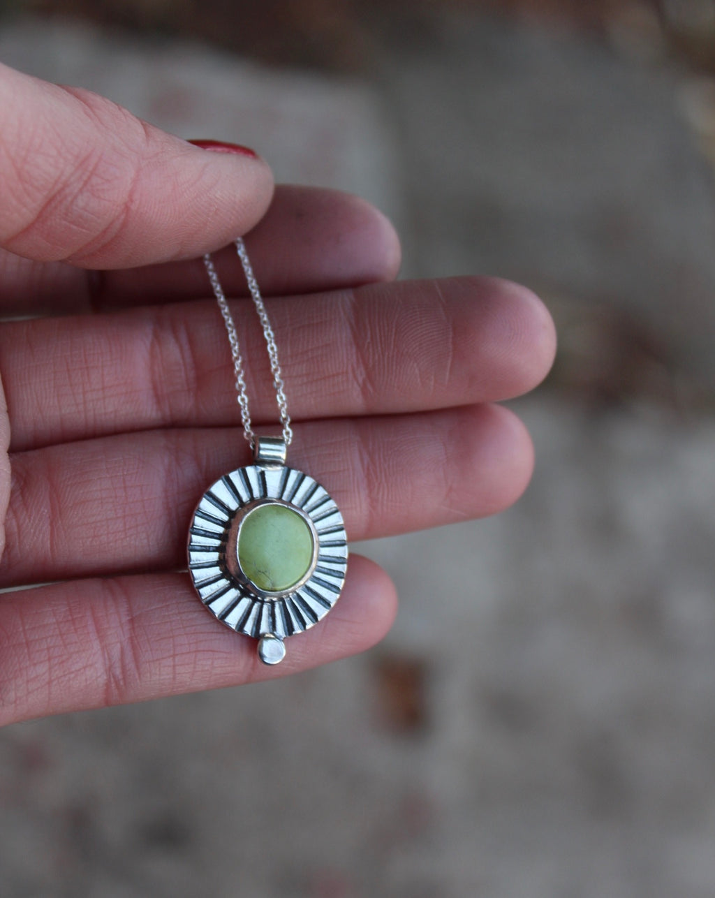 Turquoise Dot Necklace #12
