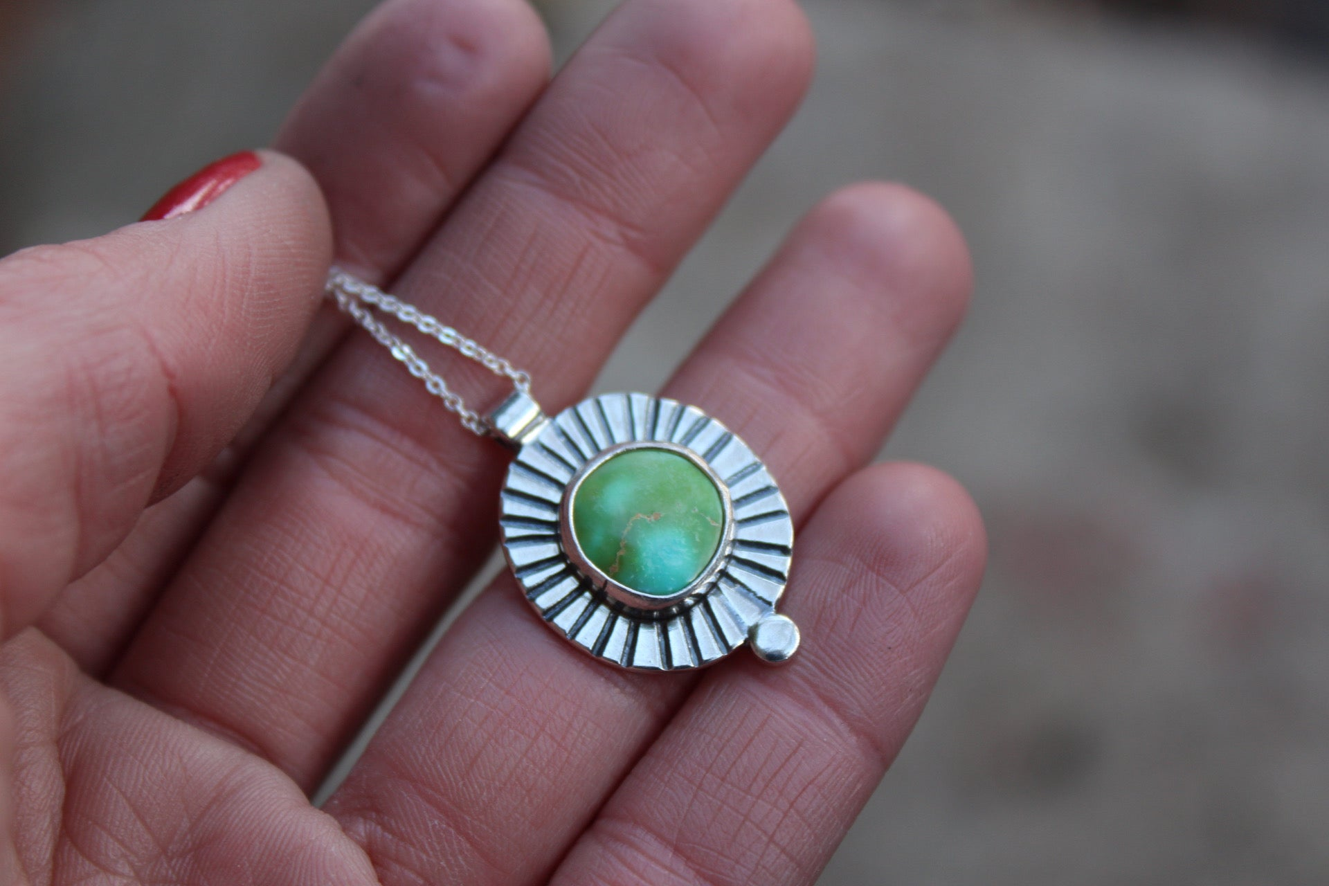 Turquoise Dot Necklace #13