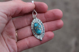 Turquoise Dot Necklace #16