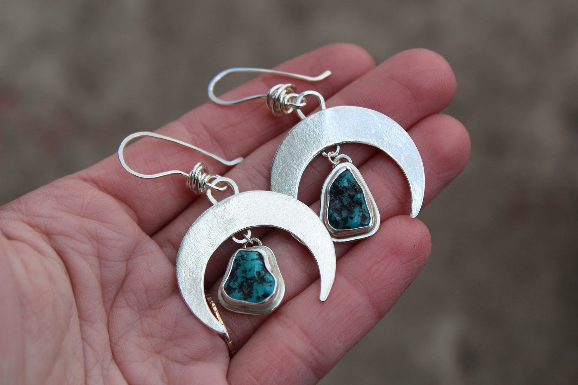 Small Crescent Moon Earring #11
