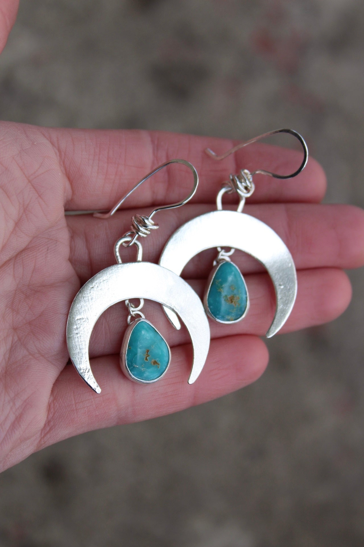 Small Crescent Moon Earring #12