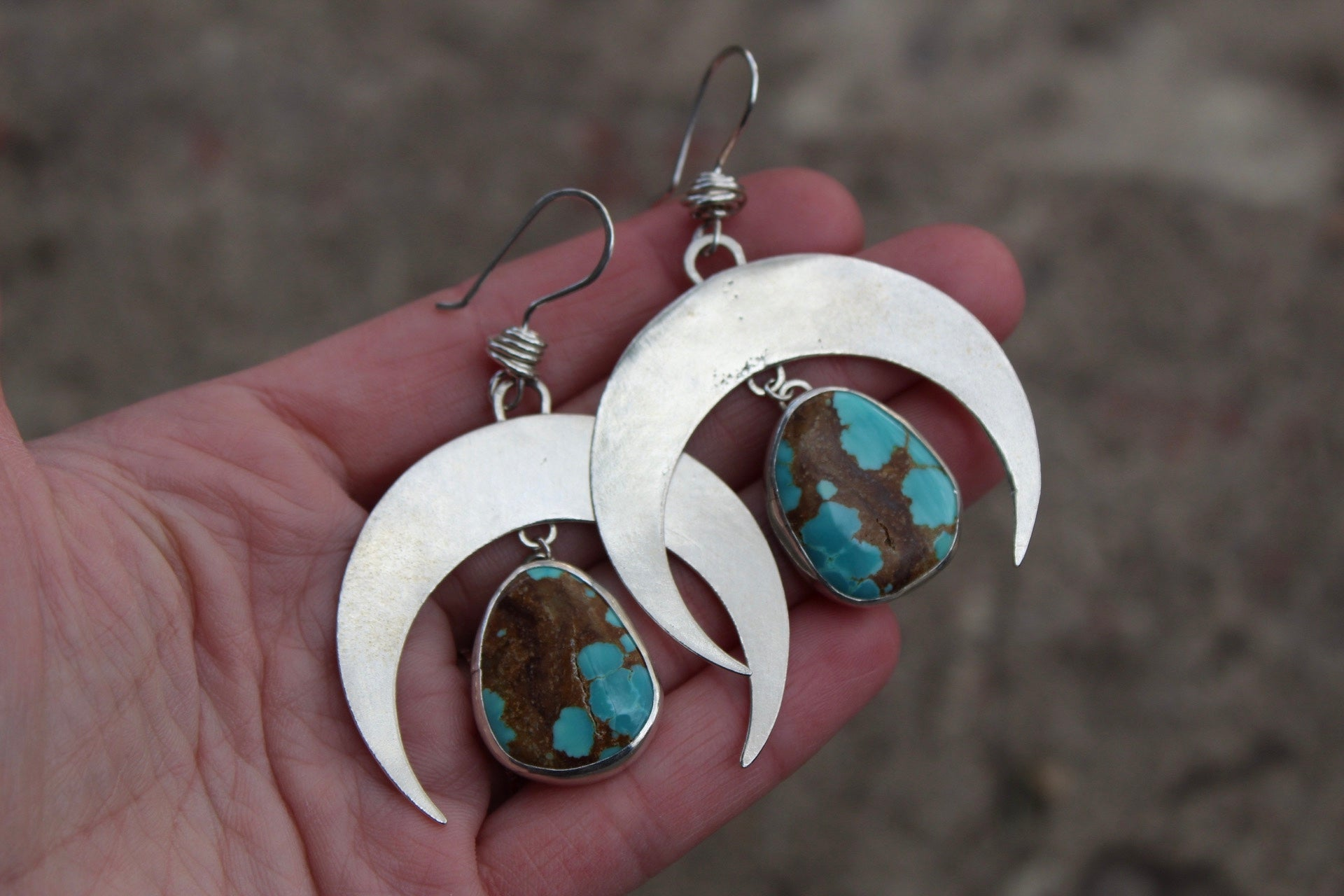 Large Crescent Moon Earring #16