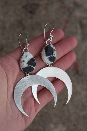 Large Crescent Moon Earring #17