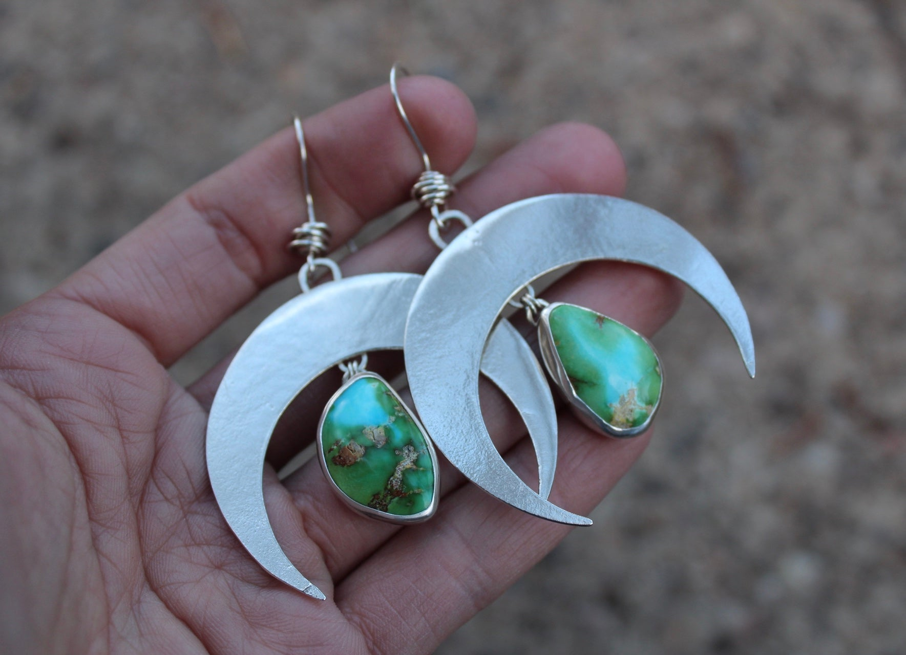 Large Crescent Moon Earring #21