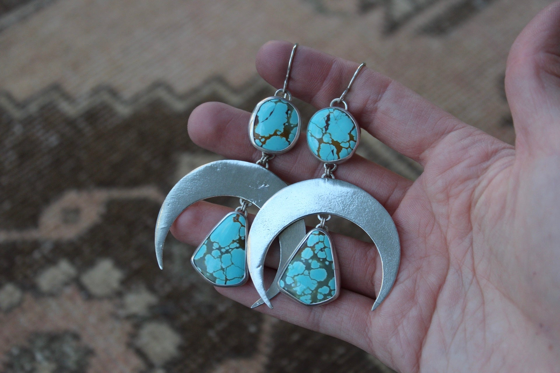 Large Crescent Moon Earring #23