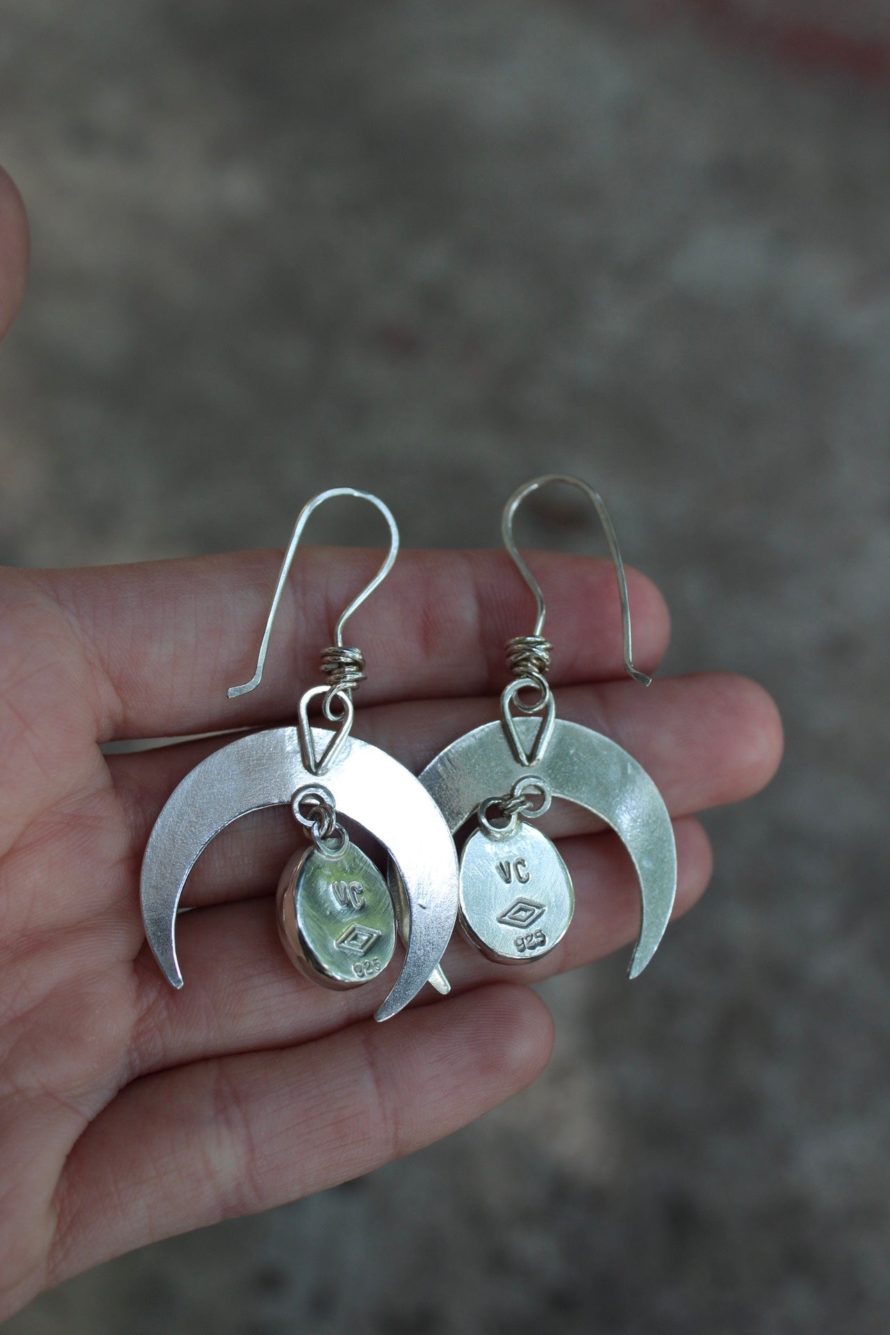 Small Crescent Moon Earring #17