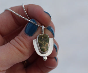 Pilot Mountain Turquoise + Sterling Dot Necklace