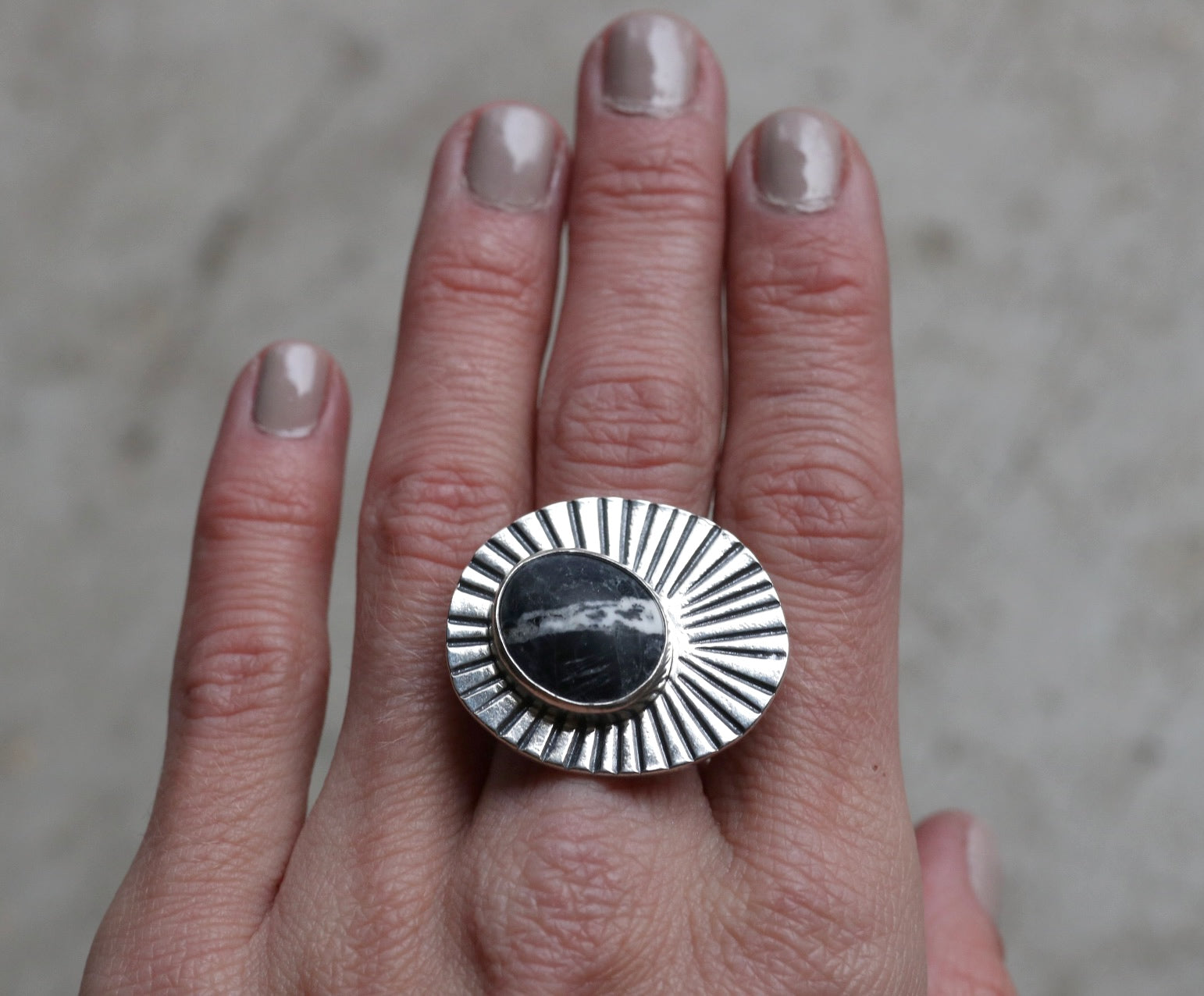 Sunburst Ring #18 - Size 8