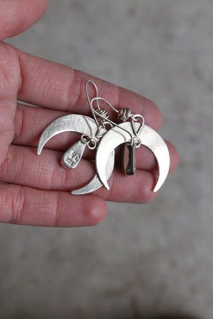 Small Crescent Moon Earring #18