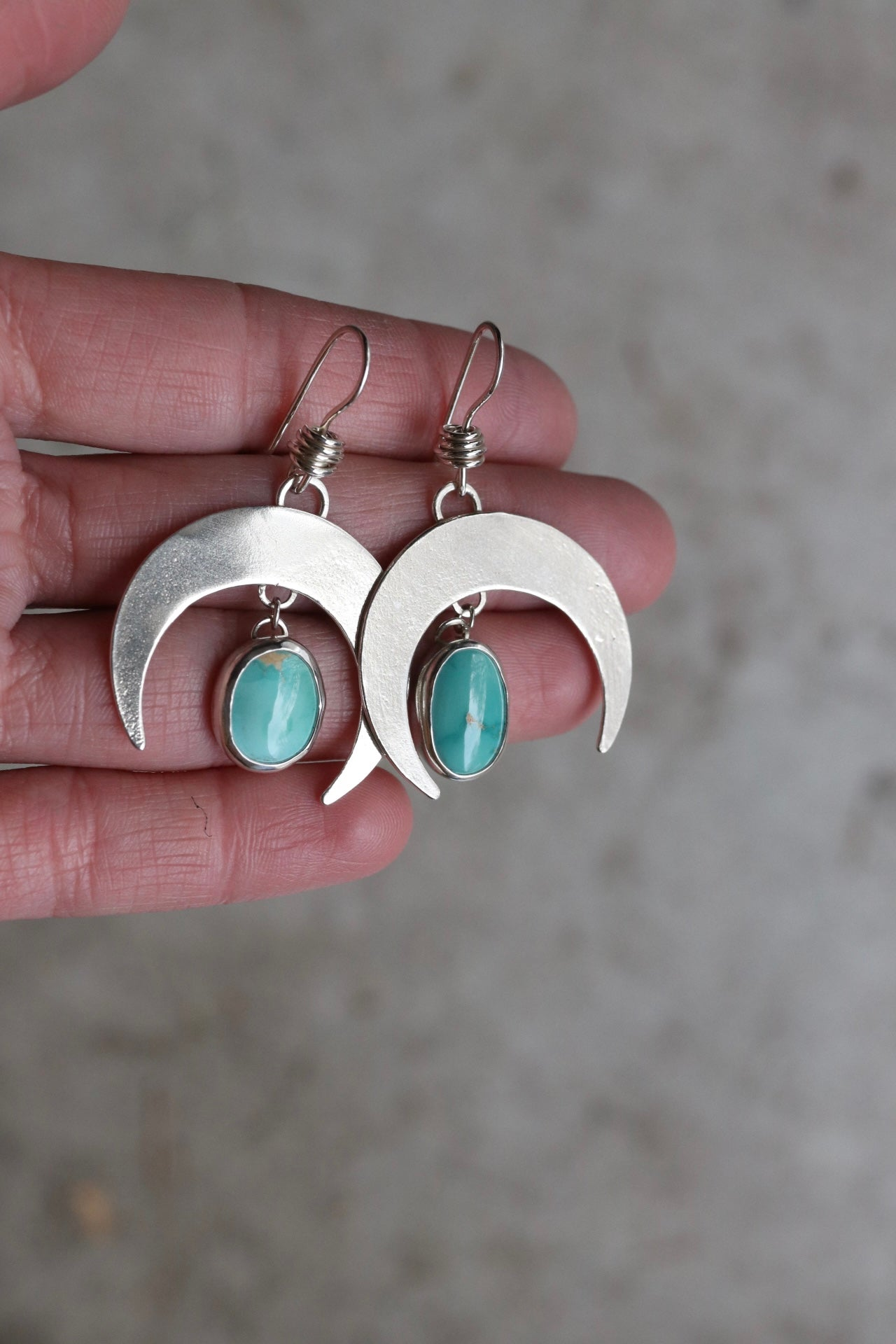 Small Crescent Moon Earring #19