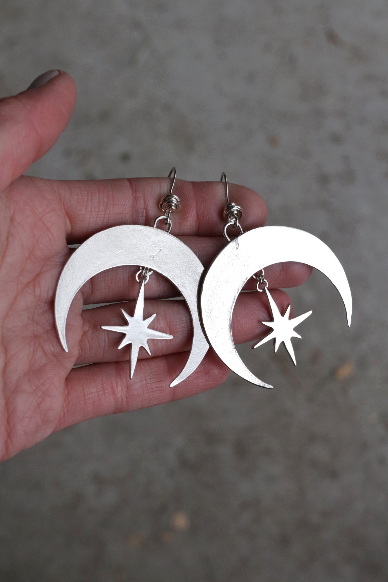 All Sterling Crescent Moon Earrings