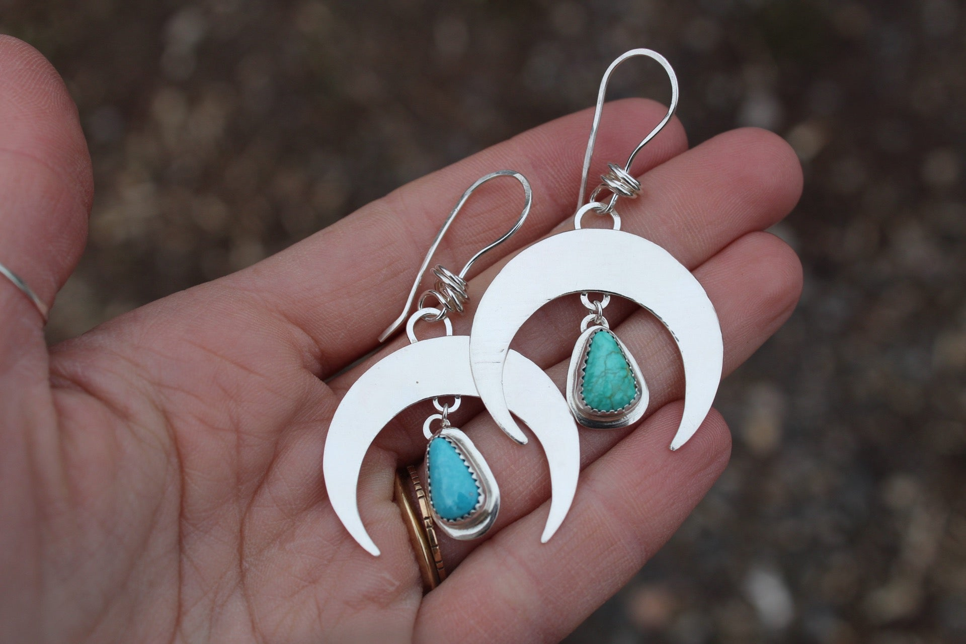 Crescent Moon Earrings 1- Teardrop Roystons