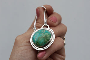 American Turquoise & Sterling Layered Necklace