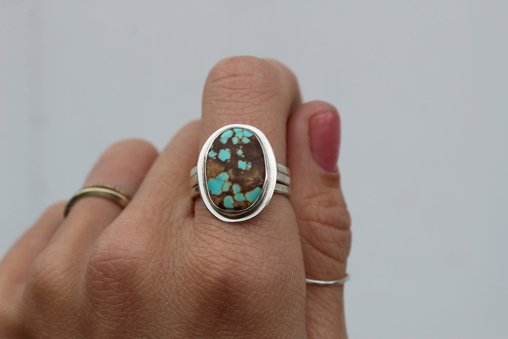 #8 Mine Turquoise Stacking Ring Set