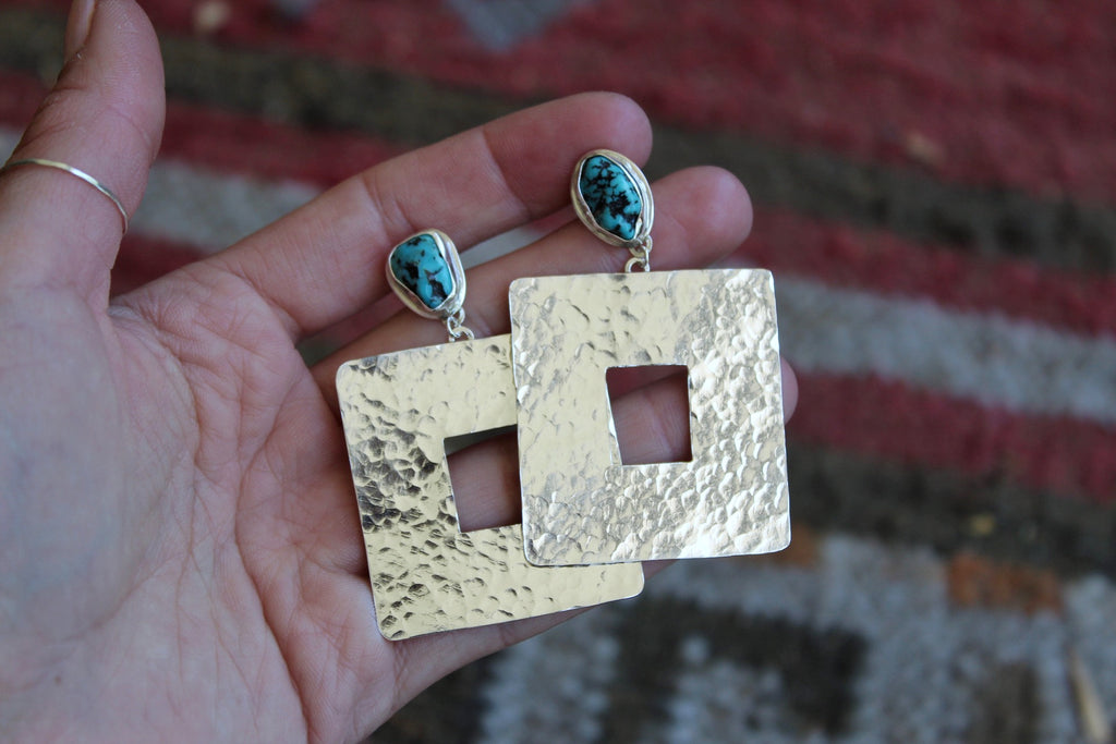 Textured Rectangle Stud Earrings #2