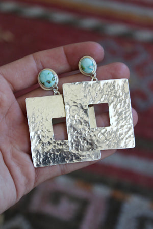 Textured Rectangle Stud Earrings #1