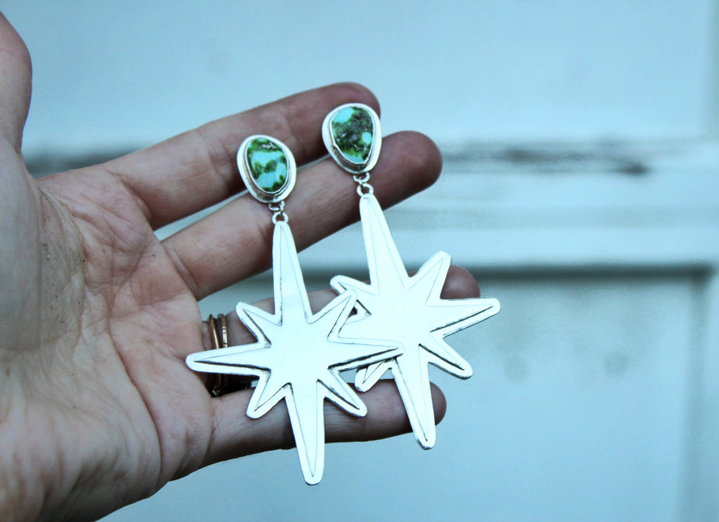 Sonoran Gold Turquoise Starburst Earrings