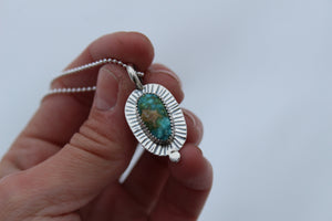 Turquoise Dot Necklace #6