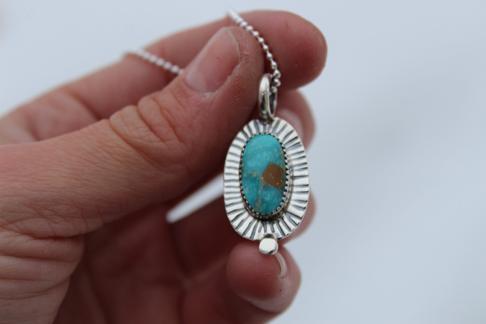 Turquoise Dot Necklace #7