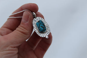 Turquoise Dot Necklace #8