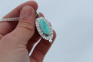 Turquoise Dot Necklace #9