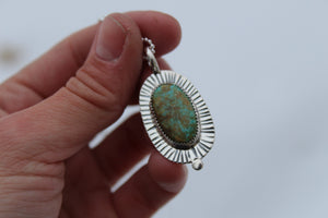 Turquoise Dot Necklace #10