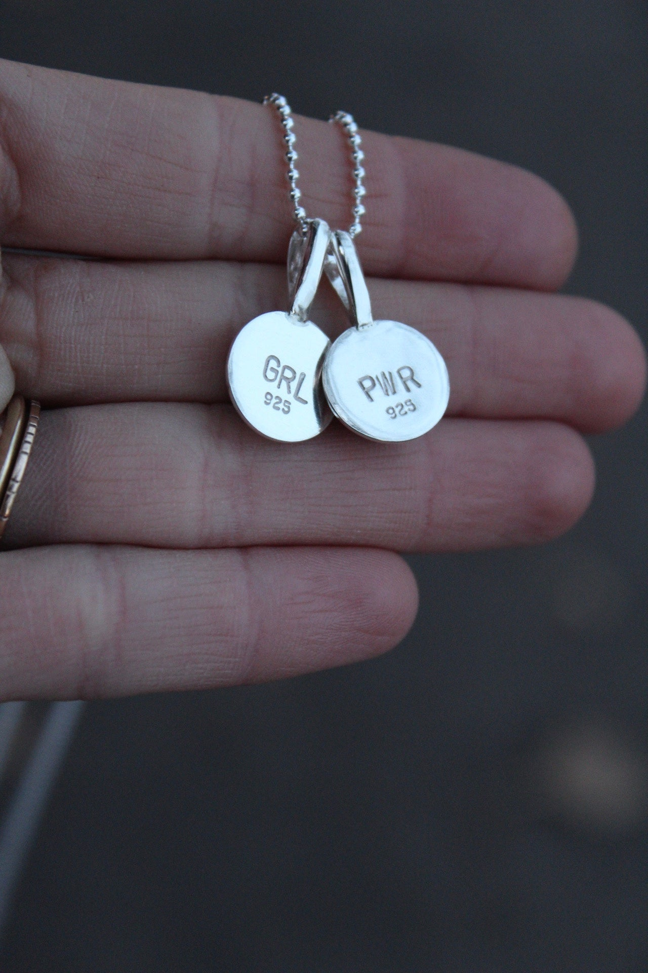 'GRL PWR' Friendship Necklaces- Set of Two