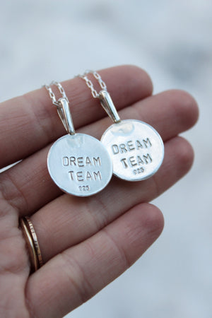 'DREAM TEAM' Friendship Necklaces- Set of Two