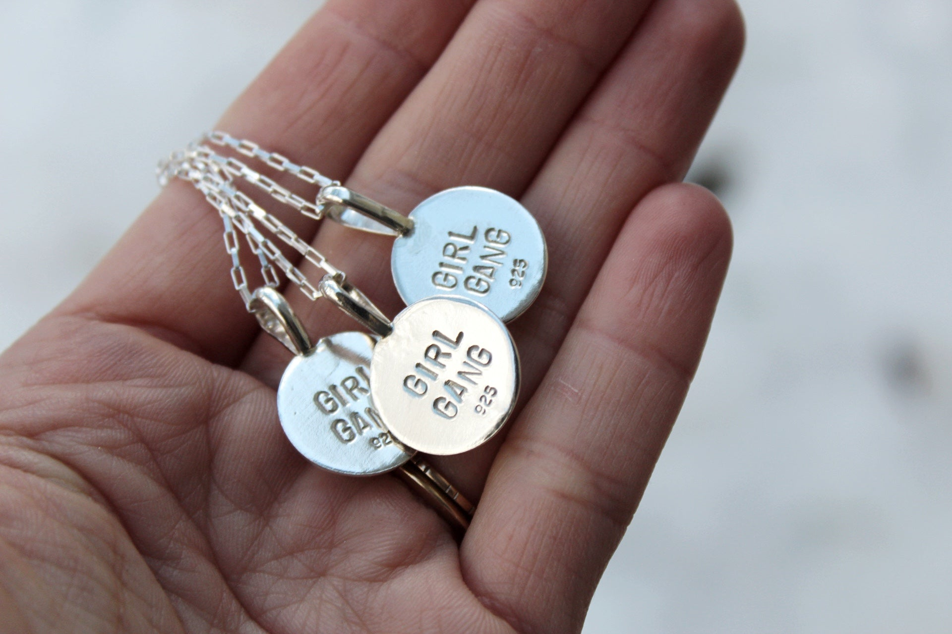 'GIRL GANG' Friendship Necklaces- Set of Three