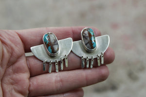 Sterling Silver Fringe Earrings #14