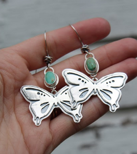 Royston Turquoise Butterfly Earrings