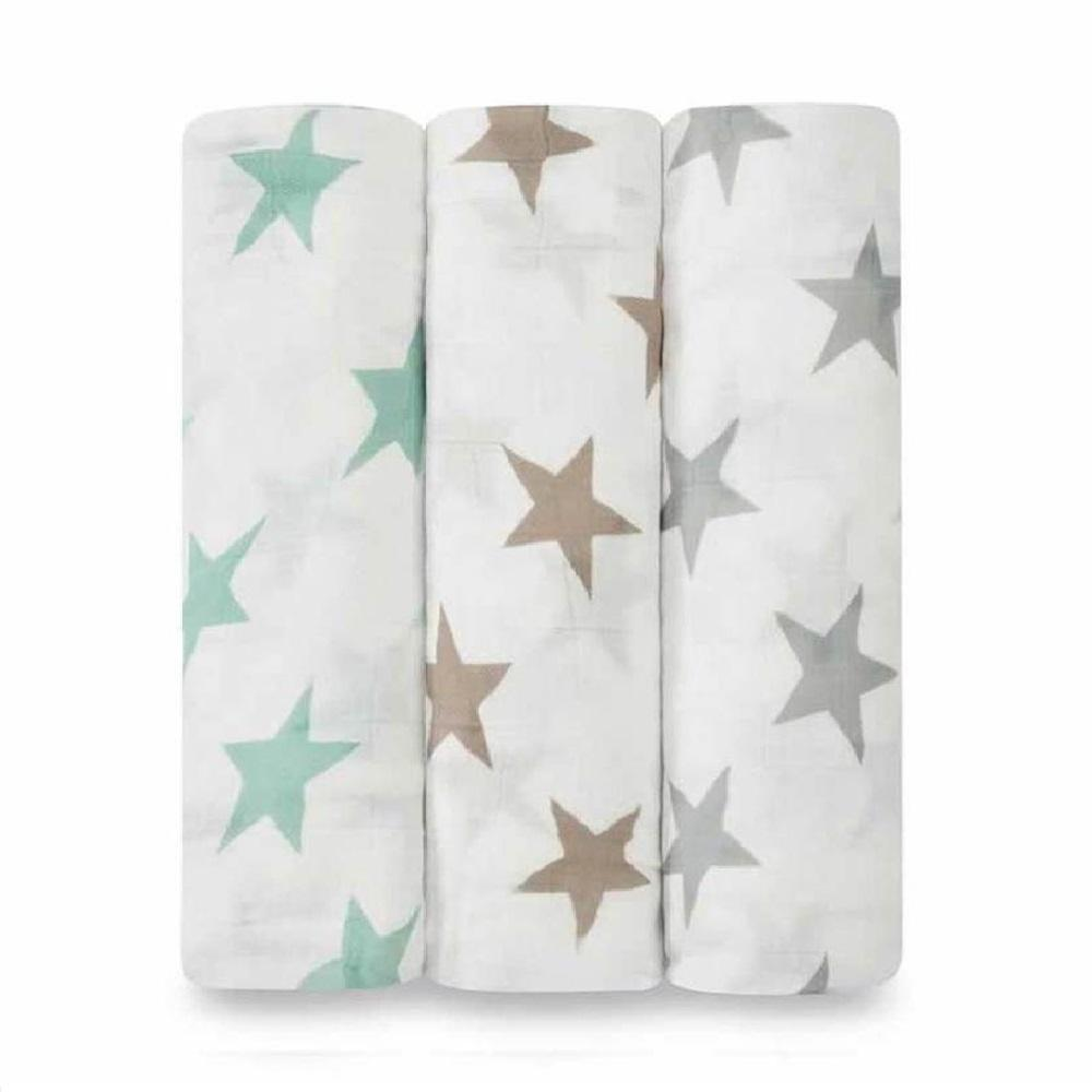 Aden + Anais Bamboo 3-pack Swaddle - Milky Way
