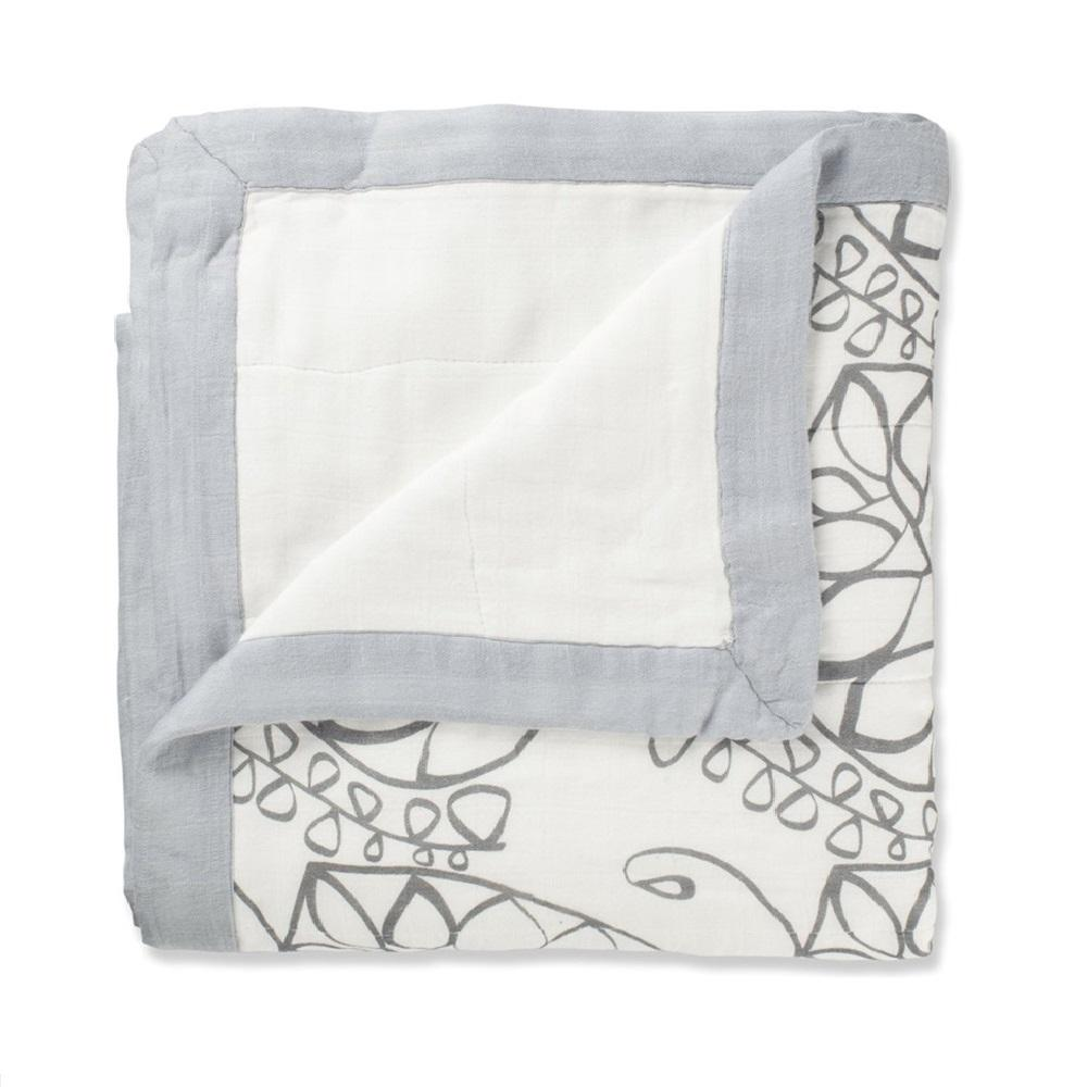 Aden + Anais Bamboo Dream Blanket - Moonlight Leafy