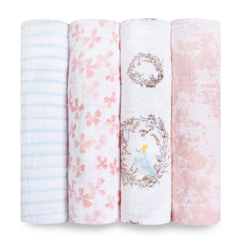 Aden + Anais Classic 4-pack Swaddle - Bird Song