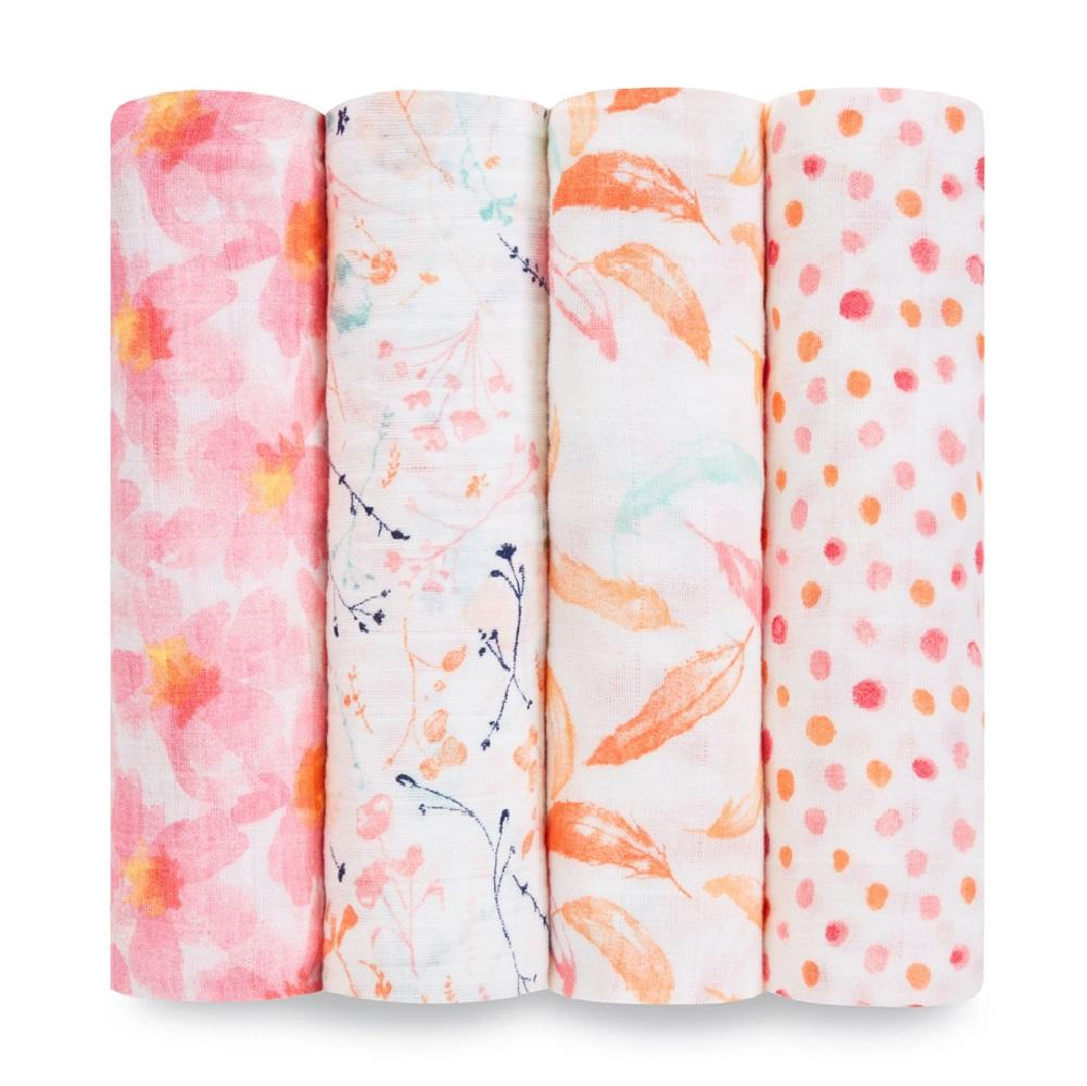 Aden + Anais Classic 4-pack Swaddle - Petal Blooms