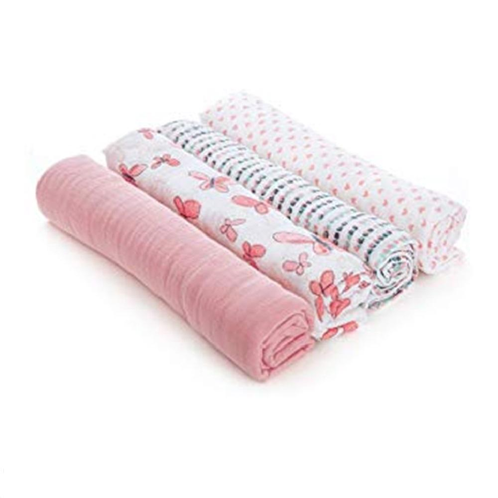 Aden by Aden + Anais 4-pack Swaddle Plus – Butterflies