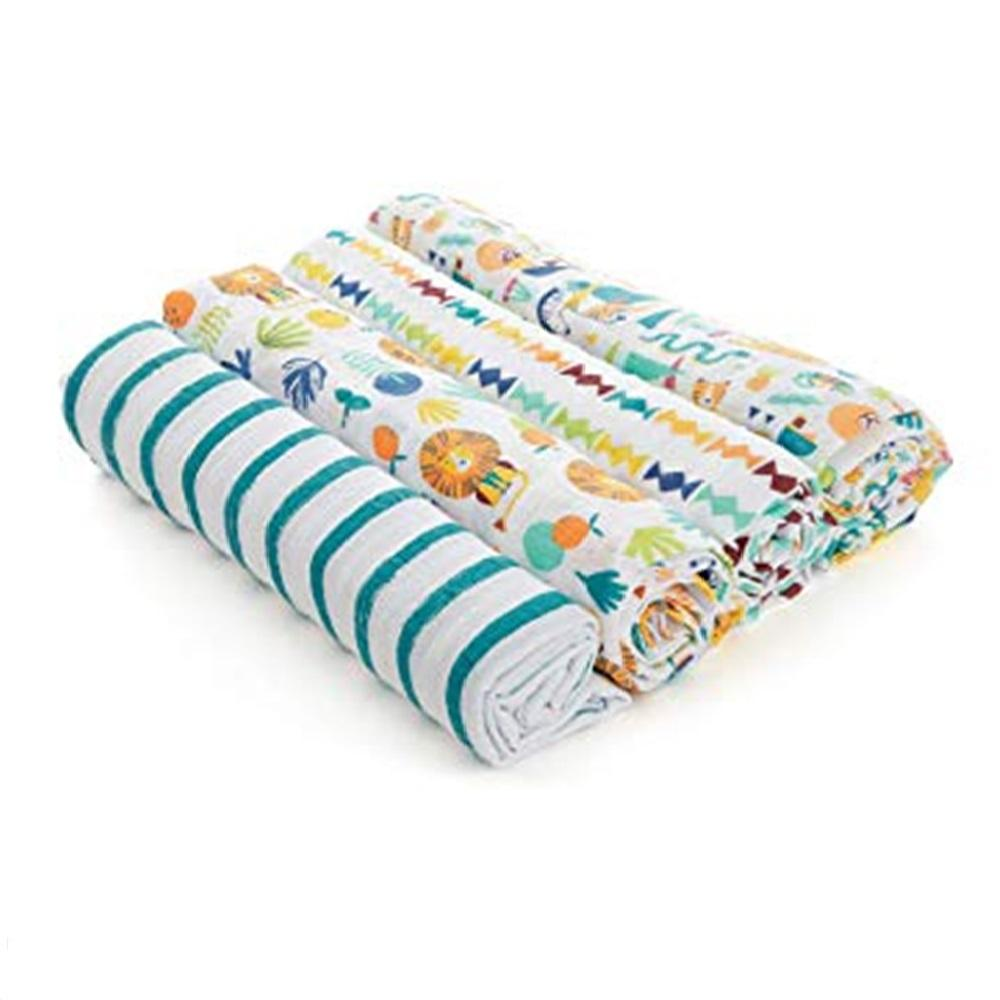 Aden by Aden + Anais 4-pack Swaddle Plus – Going Bananas