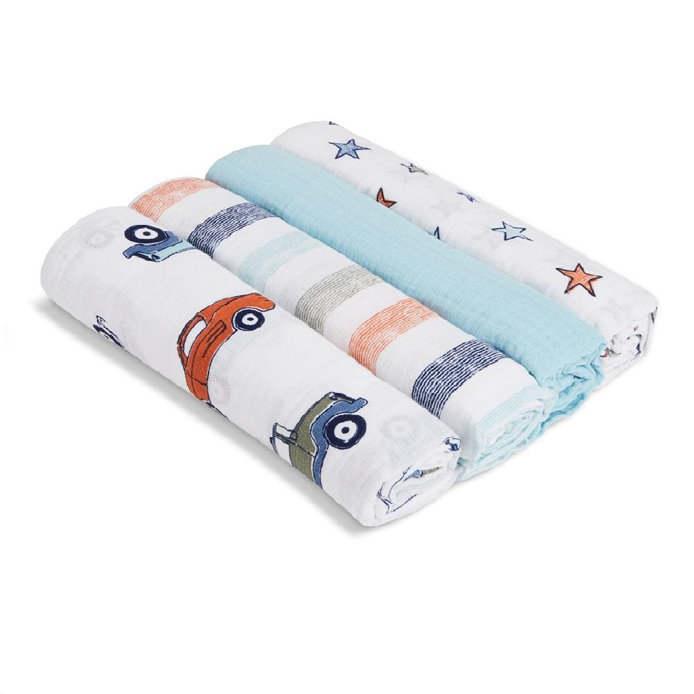 Aden by Aden + Anais 4-pack Swaddle Plus – Hit the Road