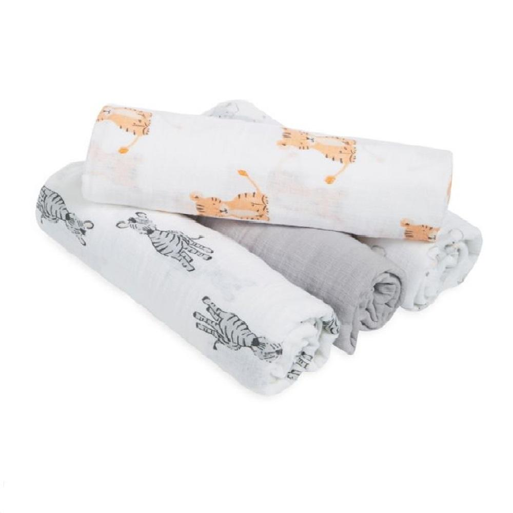 Aden by Aden + Anais 4-pack Swaddle Plus – Safari Babes