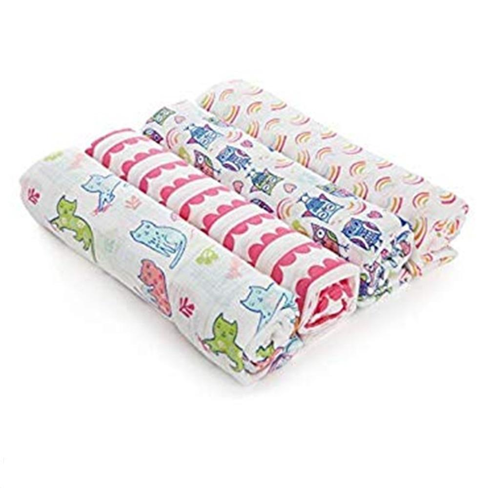 Aden by Aden + Anais 4-pack Swaddle Plus – Wise Owl
