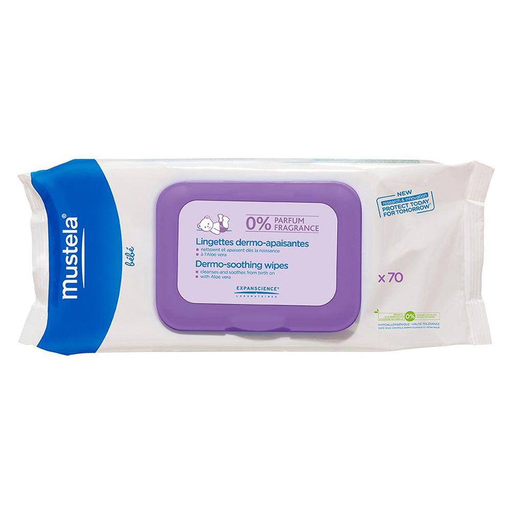 Dermo-Soothing Wipes Fragrance-Free x 70ct