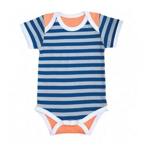 Farm Boy Onesie – Gray Stripes w/ orange