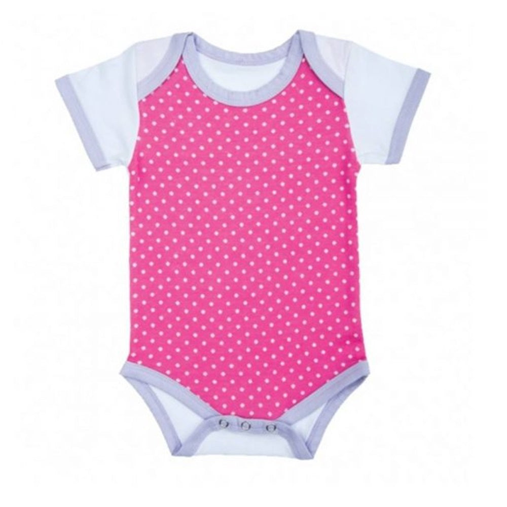 Farm Girl Onesie – Pink Polka Dots w/ White