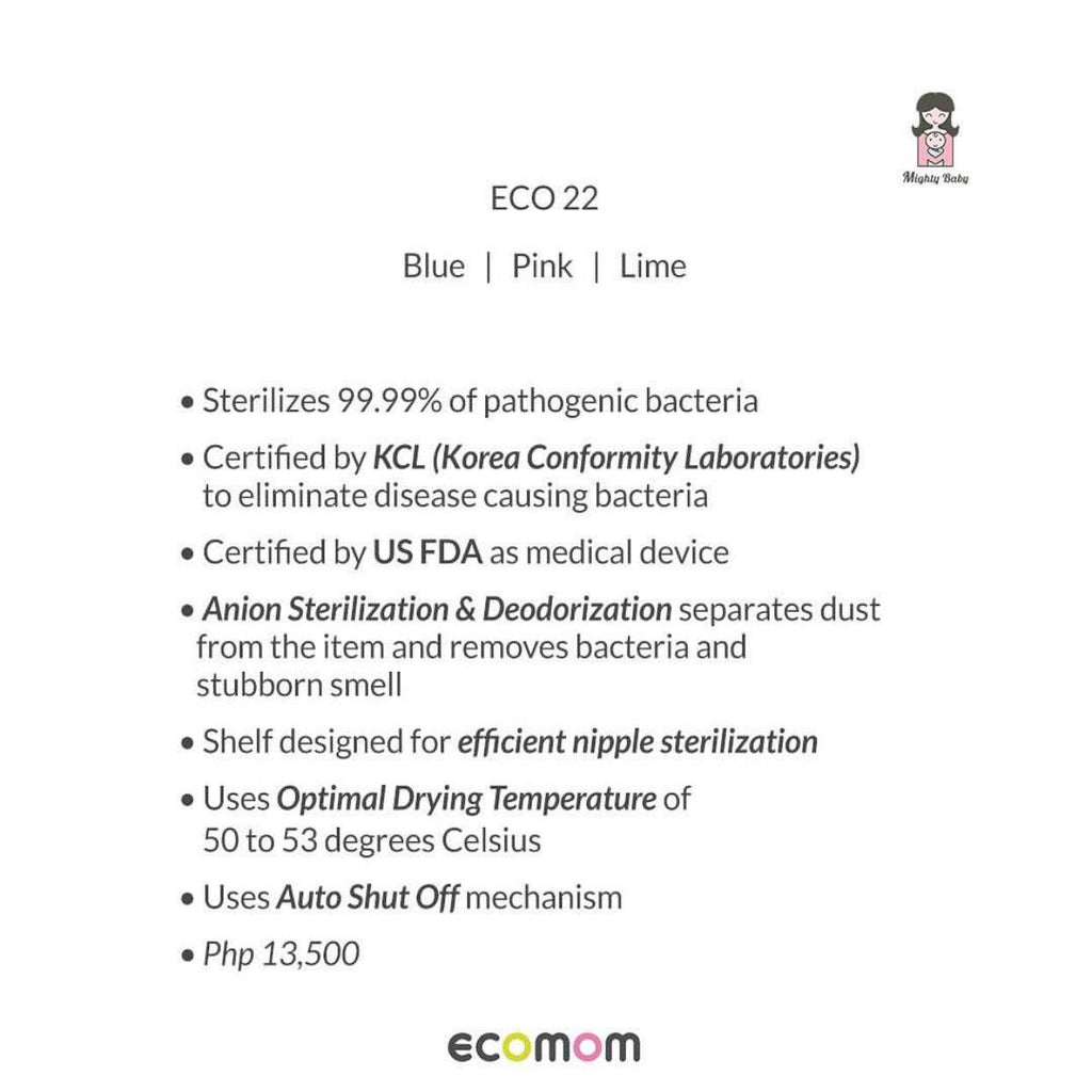 ECOMOM 22 SINGLE UV STERILIZER