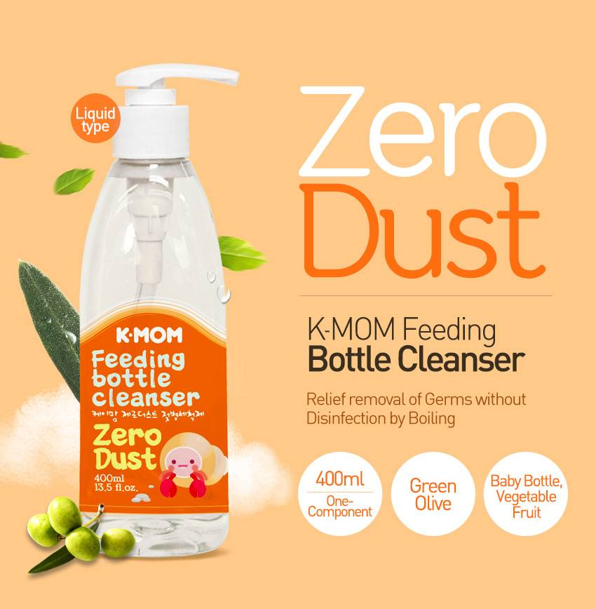 K-MOM Zero-Dust Bottle Cleanser 400ml