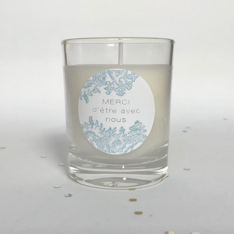 Bougie verrine Blue Vintage